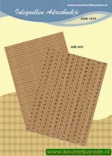 Inlegvellen adresboekje ADB 1610 (Locatie: D42 )
