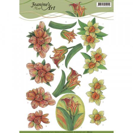 Jeanine's Art knipvel bloemen CD11112 (Locatie: 4605)