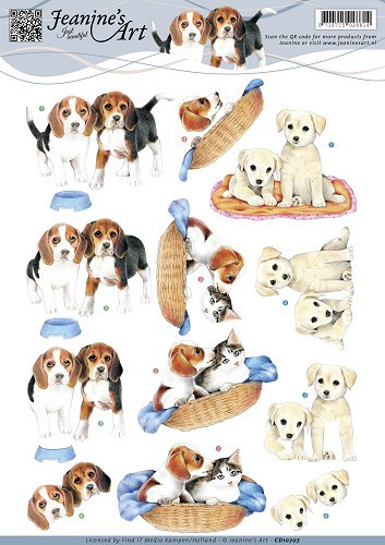 Jeanine's Art knipvel hondjes CD10707 (Locatie: 4620)