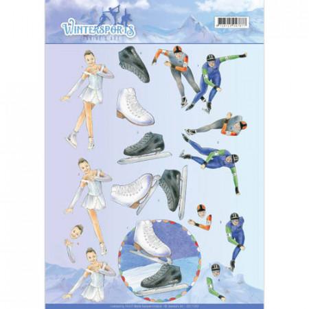 Jeanine's Art knipvel schaatsen CD11030 (Locatie: 4540)