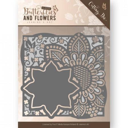 Jeanine's Art snij- en embosmal Classic Butterflies and Flowers - Flowers Frame JAD10018 (M150)