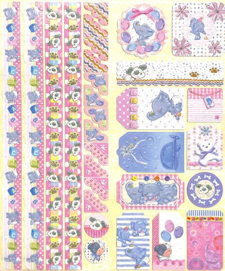 Joy!Crafts Sparkling Embossed stickers Baby 6013/0021 (Locatie: 1RA1)