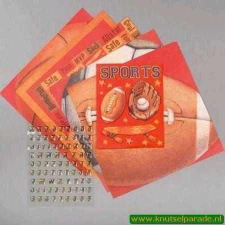 K&Company Tim Coffey sports scrap kit 670709 (Locatie: s2)