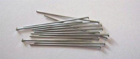 Kettelstiften met kop zilverkleur 32 mm 100 stuks 10317-3201 (Locatie: K3)