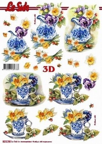 Le Suh knipvel Bloemen in Delfts blauw 8215766 (Locatie: 0617)