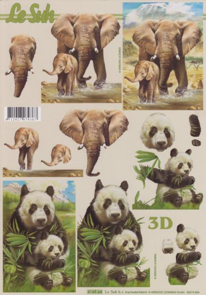 Le Suh knipvel olifant / panda 416964 (Locatie: 5527)