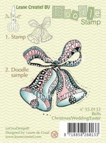 Leane Creatief clear stamp Bells Christmas/Wedding 550133 (Locatie: K107)