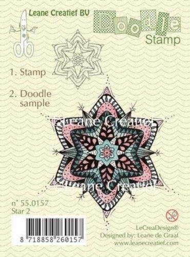 Leane Creatief Doodle clear stamp Star 2 550157 (Locatie: NN018)