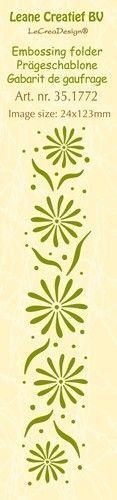Leane Creatief embossing folder Flowers 35.1772 (Locatie: K1)
