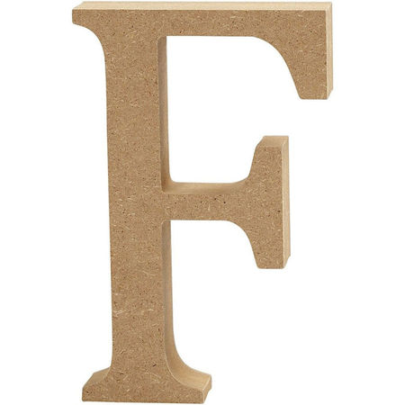 Letter F, hoogte 13 cm, dikte 2 cm, MDF, 1stuk (Locatie: KB)