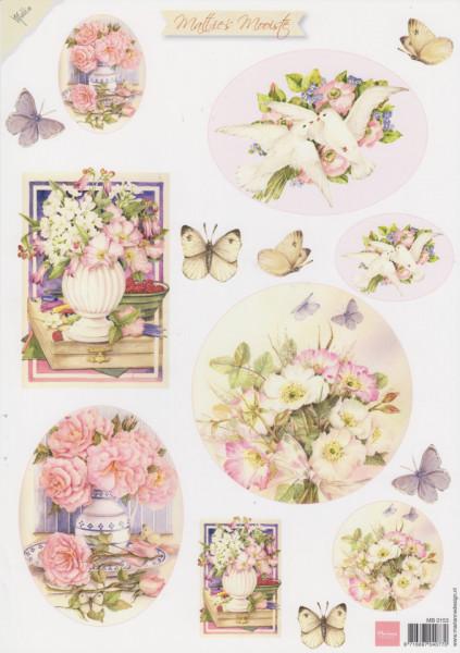 Marianne Design knipvel Mattie's mooiste bloemen MB0153 (Locatie: 2795)