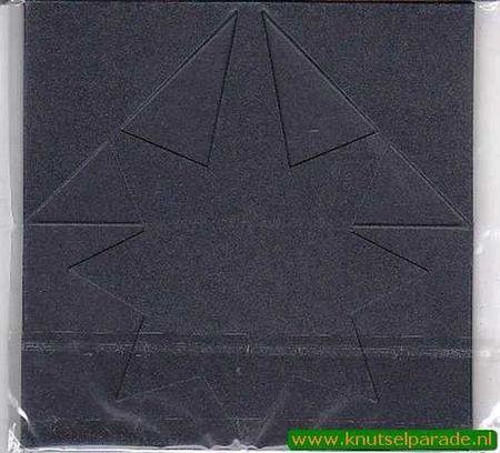Mireille kaart metallic donkerblauw ster 6 stuks (Locatie: L73 )