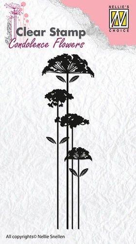 Nellie Snellen Clear stamp Condolence Flower-2 CSCF002 (Locatie: NN298 )
