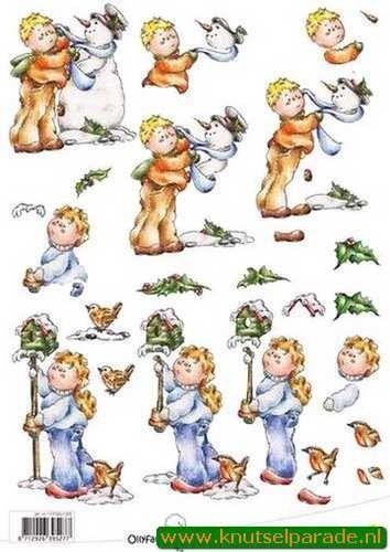 Ollyfant 3D vel jongen en sneeuwpop 117145/1203 (Locatie: 6758)