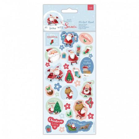 Papermania glitter sticker kerstmis, 2 vellen (Locatie: c155)