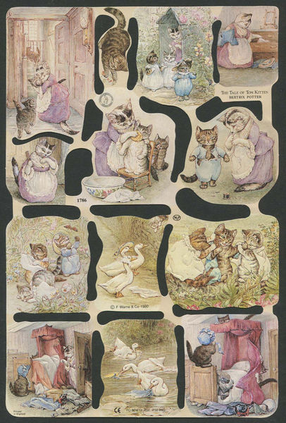 Poezieplaatjes The Tale of Tom Kitten Beatrix Potter MLP1786 (Locatie: MP67)