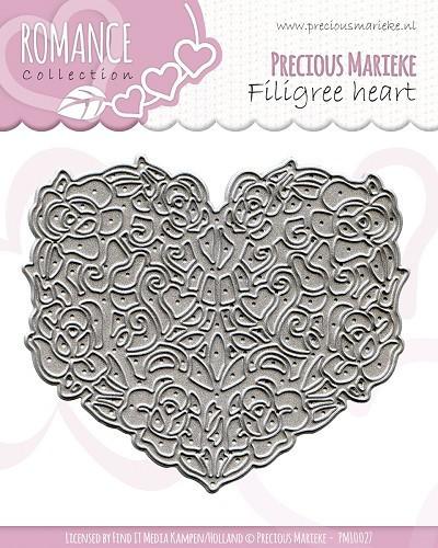 Precious Marieke snijmal Filigree Heart PM10027 (Locatie: d100)