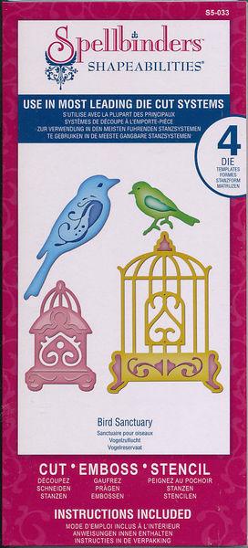 Spellbinders snij- en embosmal Bird Sanctuary S5-033 (Locatie: U366)