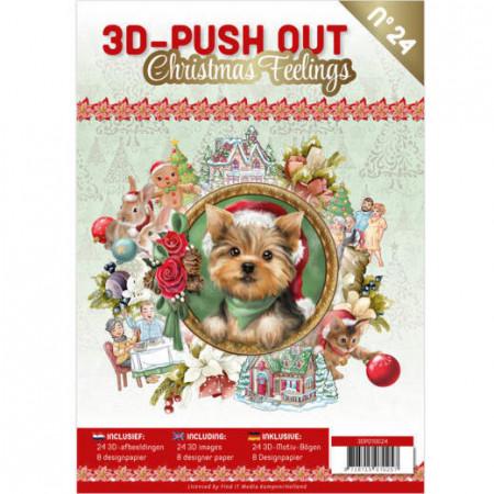 Stansboek Christmas Feelings, 24 afbeeldingen en 8 designpapier, 3DPO10024 (Locatie: 0425)