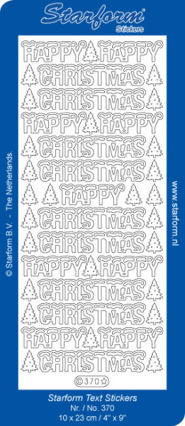 Starform sticker goud happy christmas 370 (Locatie: C242)