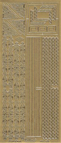 Starform sticker goud hoekjes/randjes 806 (Locatie: N124)