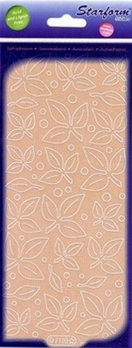 Starform sticker velvet blaadjes beige 7110 (Locatie: B358)