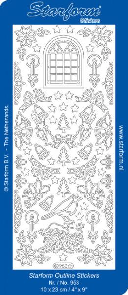 Starform Stickervel kerst goud 953 (Locatie: BB138)