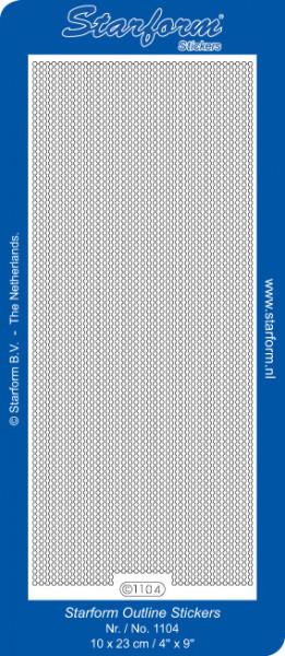 Starform stickervel lijnen zilver 1104 (Locatie: bb139)