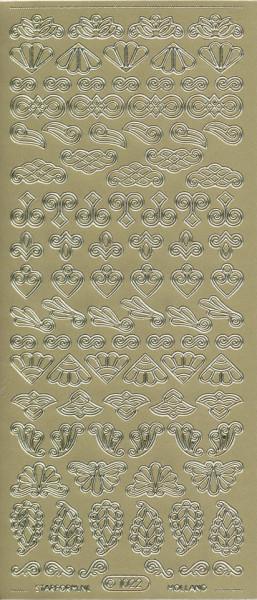 Starform stickervel ornamenten goud 1022 (Locatie: u062)