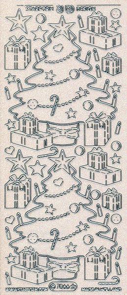 Starform stickervel transparant glitter zilver 7066 (Locatie: U197)