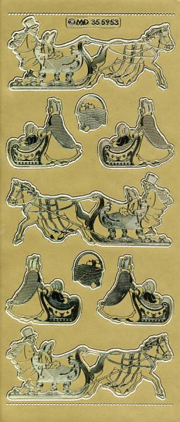 Stickervel goud kerstmis MD355953 (Locatie: e106)
