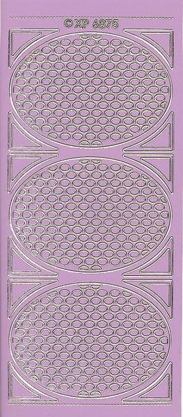 Stickervel hoeken lila XP6875 (Locatie: u227)