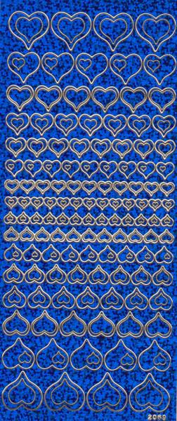 Stickervel holografisch blauw hartjes 2069 (Locatie: zz124)