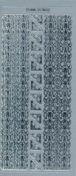 Stickervel zilver MD357033 (Locatie: u088)
