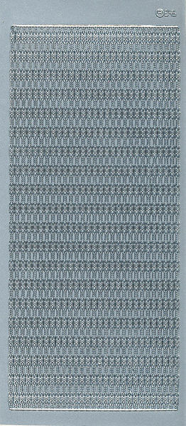 Stickervel zilver randje 645 (Locatie: X059 )