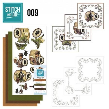 Stitch and Do 9 Wijn en bier STD0009
