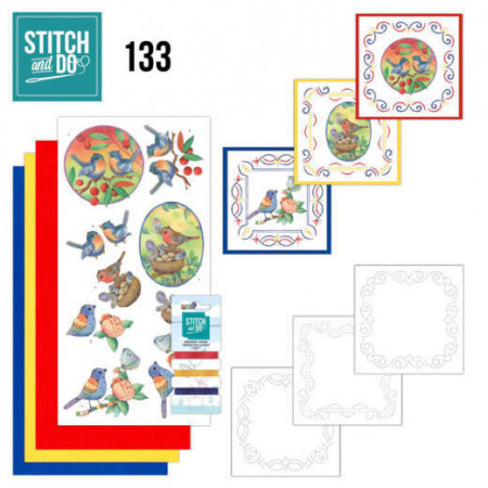 Stitch and Do Blue Birds STDO133