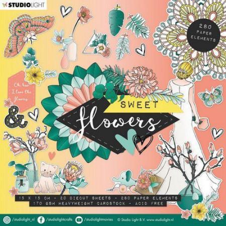 Studio Light stansblok Sweet Flowers 15 x 15 cm EASYSFL660