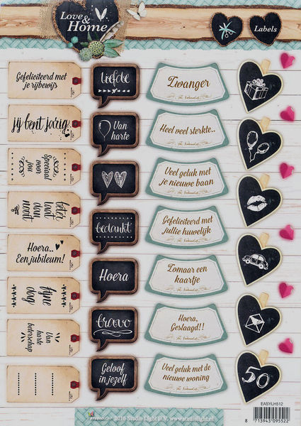 Studio Light stansvel Love & Home Labels EASYLH512 (Locatie: 4733)