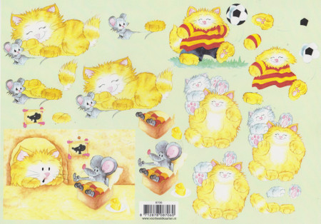 Voorbeeldkaarten knipvel dieren 8706 (Locatie: 0215)