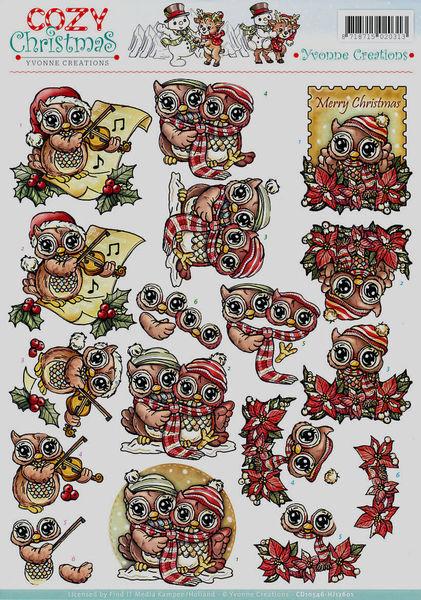 Yvonne Creations knipvel Cozy Christmas CD10546 (Locatie: 829)