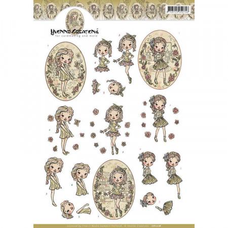 Yvonne Creations knipvel meisje CD1118 (Locatie: 1527)