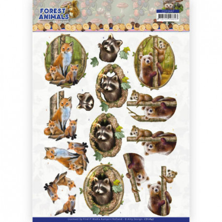 Amy Design knipvel Forest Animals - Fox CD11647 (Locatie: 1530)