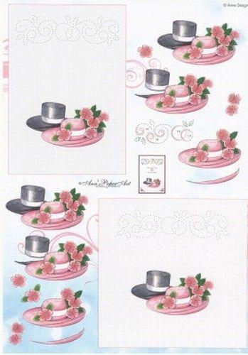 Anne Design knipvel/borduren huwelijk BO 28 (Locatie: 4748)