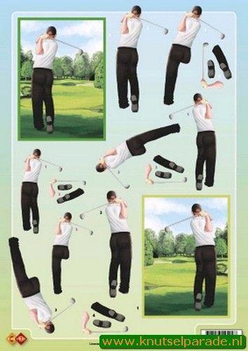 Card Deco knipvel golf CD 10050 (Locatie: 4401)