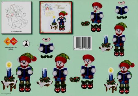 Card Deco knipvel kerst HJ3502 (Locatie: 5001)