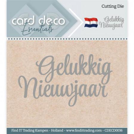 Card Deco snijmal Gelukkig Nieuwjaar CDECD0036 (Locatie: k154)