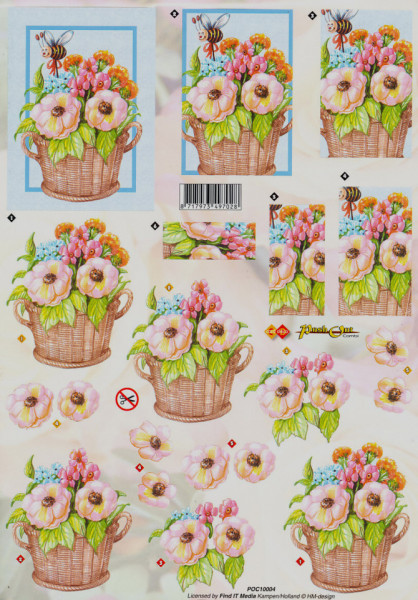 Carddeco Push Out Combi bloemen POCS02 (Locatie: 2823)
