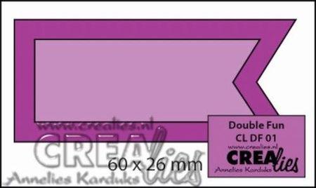 Crealies snijmal Banner/vlag CLDF01 (Locatie: C389)