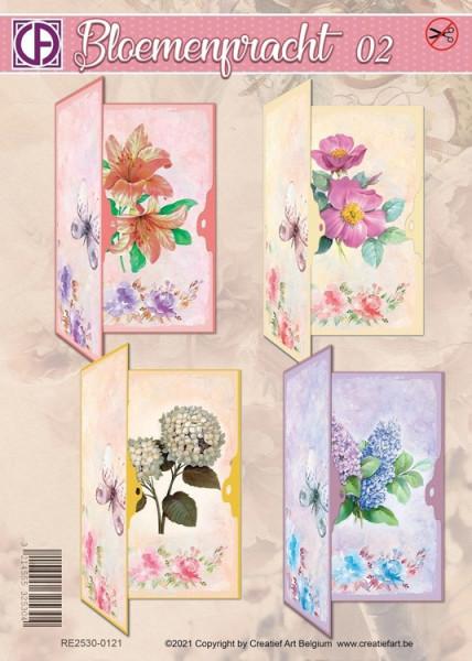 Creatief Art kaartenpakket Bloemenpracht 02 RE2530-0121